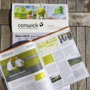 Conwick mit einem Firmenpoträt im Allgäuer Wirtschaftsmagazin