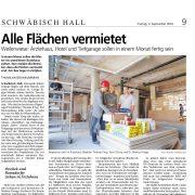Haller Tagblatt, Bauvorhaben Weilerwiese