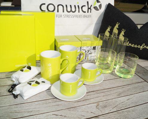 Werbeartikel der Firma Conwick