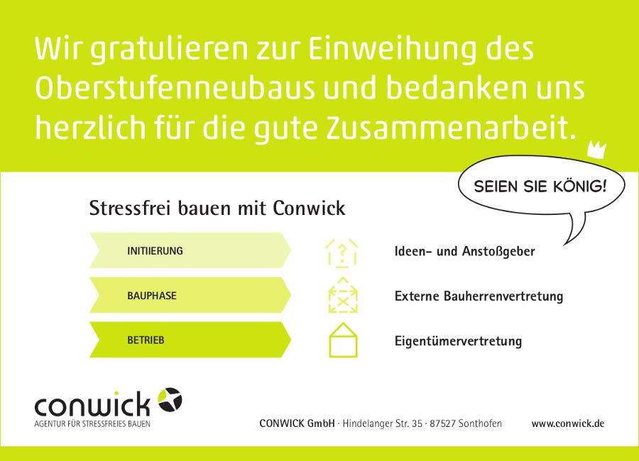 Anzeige_Conwick_Einweihung_Freie-Waldorfschule