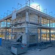 Fertiger Skelettbau beim Bauvorhaben Teltec mit Bauherrenvertretung Conwick