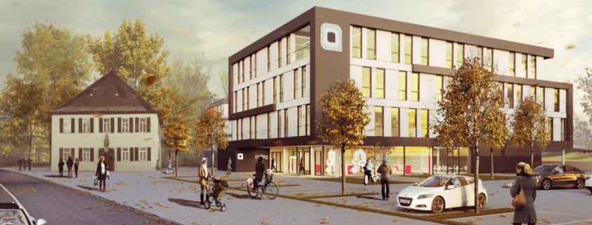 Frontansicht des geplanten medizinischen Zentrums medicolleg in Crailsheim