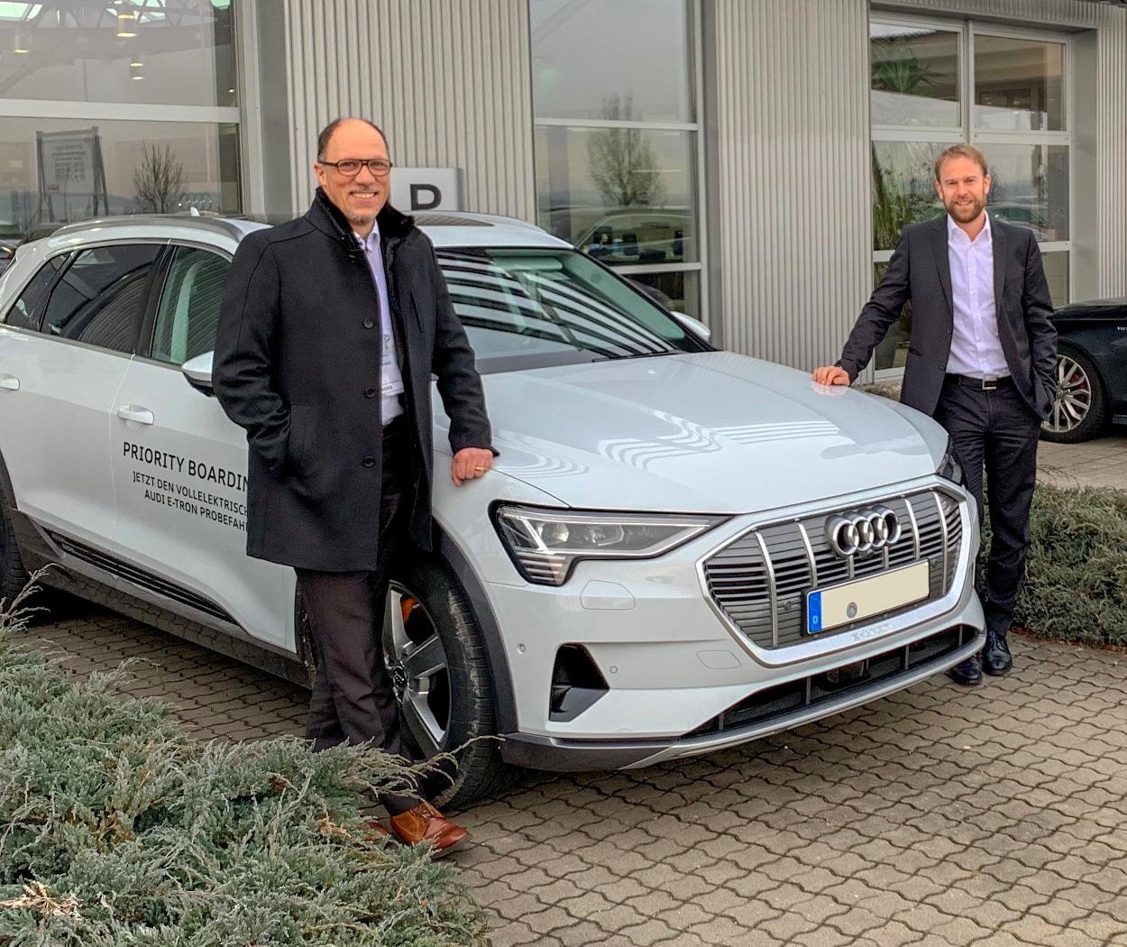 Elektromobilität im Bauwesen - die Bauherrenvertretung Conwick - Probefahrt mit Audi e-tron