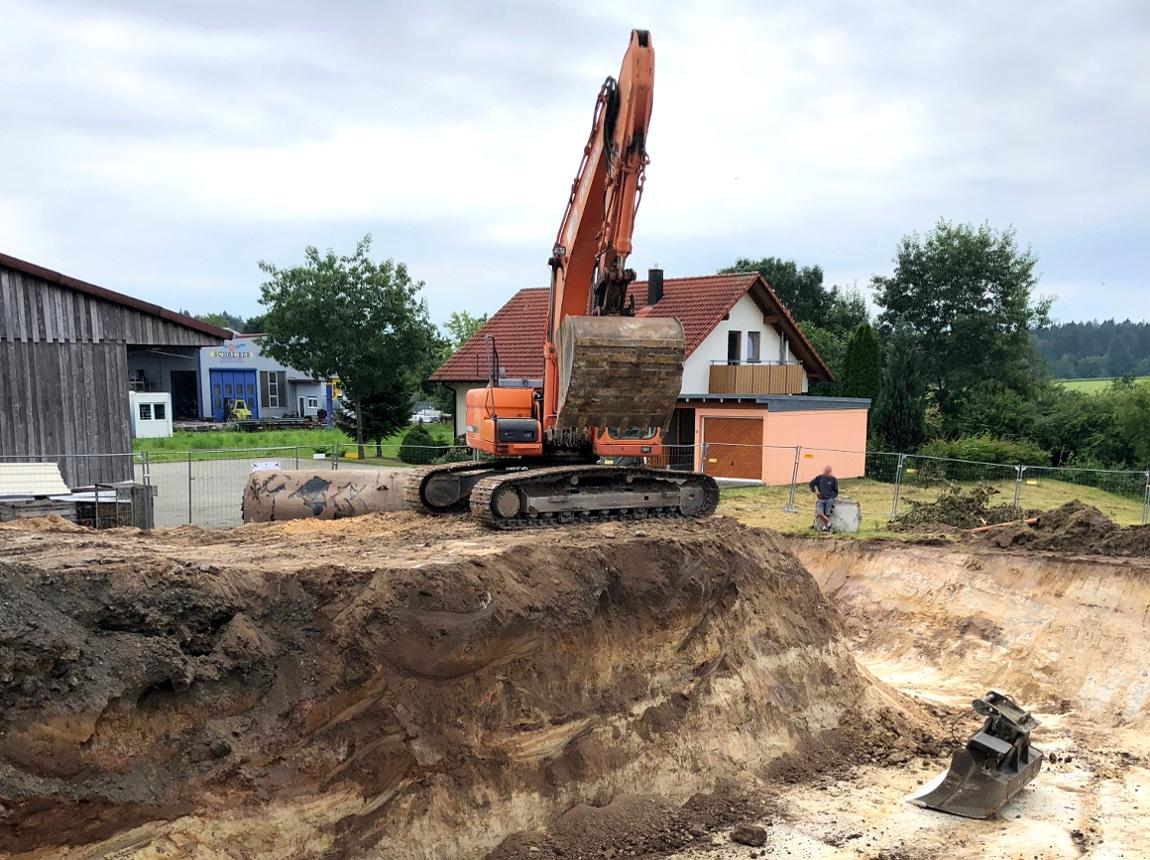 Bauvorhaben TELTEC Conwick, Bauherrenvertretung in Baden-Württemberg - Schritt 1, Baugrube