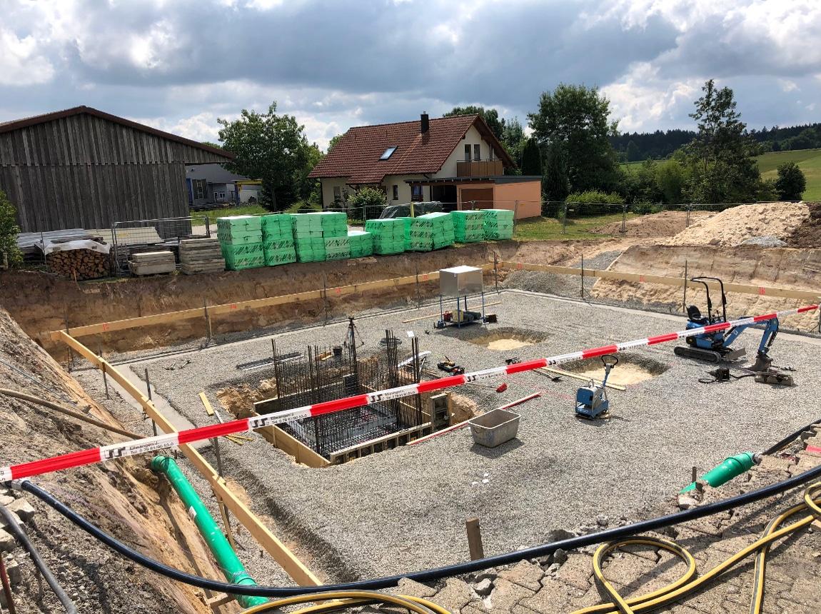 Bauvorhaben TELTEC Conwick, Bauherrenvertretung in Baden-Württemberg - Schritt 2, Bodenplatte