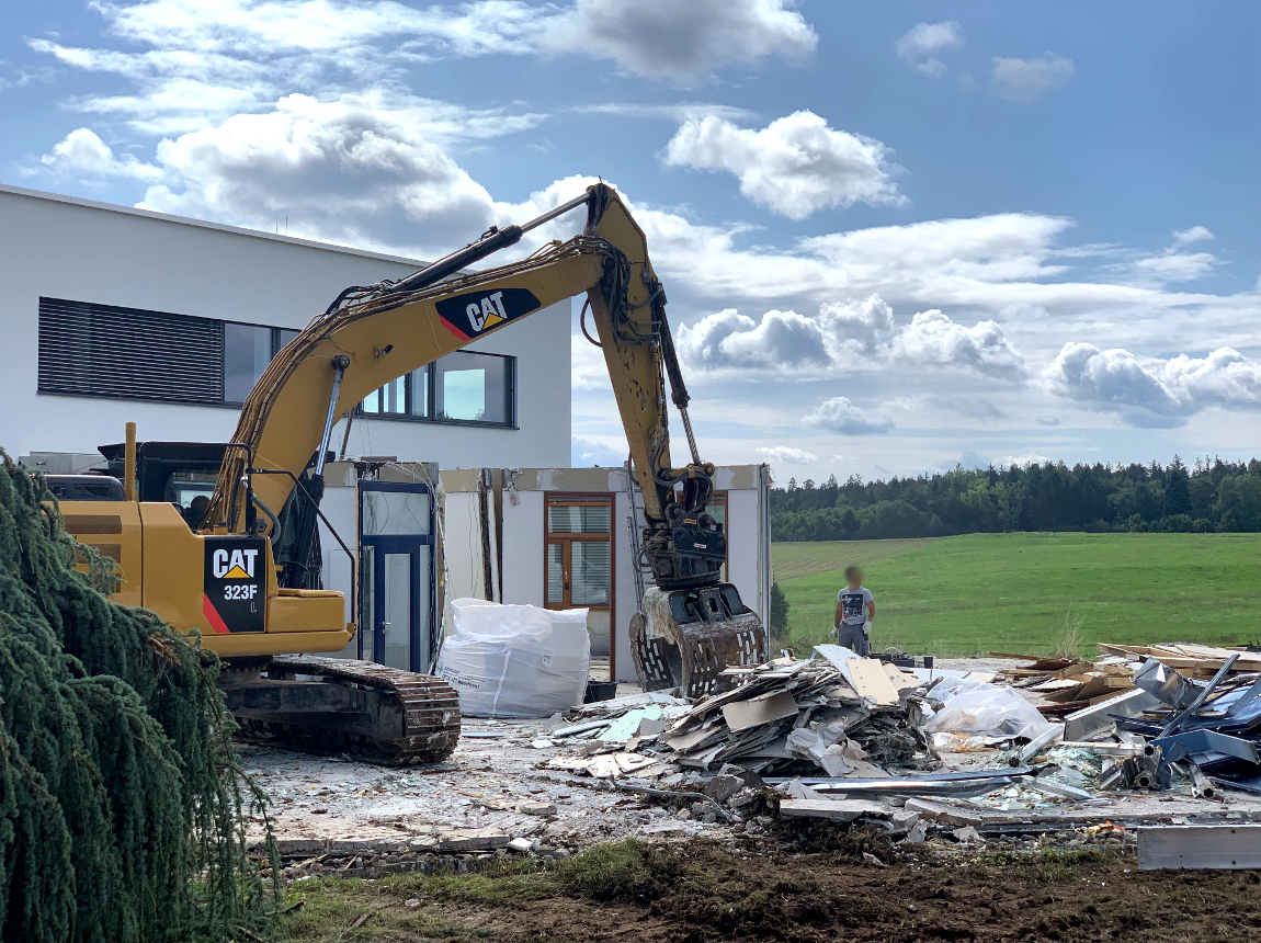 Bauvorhaben TELTEC Conwick, Bauherrenvertretung in Baden-Württemberg - Schritt 6, Abriss Altbau