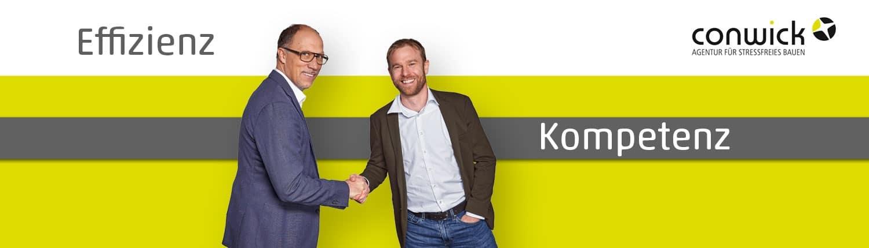 Die Geschäftsführer der Conwick GmbH – Thomas Krug und Jonas Betz