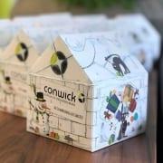 Das Adventshäuschen von Conwick ist beliebt bei Kunden und Geschäftspartnern